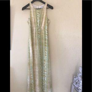 BAR III Yellow Multi Sleeveless Printed Dress